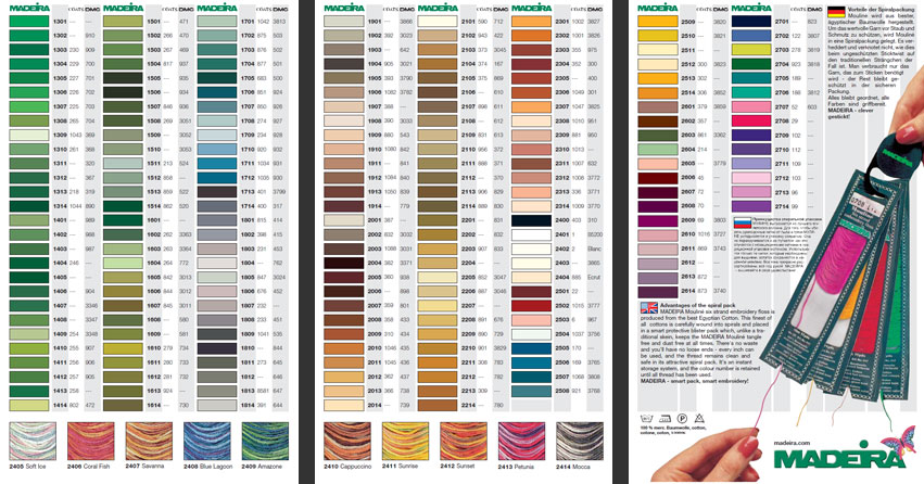 dmc light effects colour chart pdf